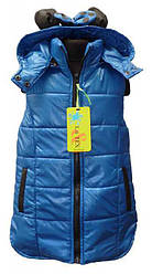 Теплая жилетка на синтепоне для девочек Минни Маус Disney р. 98  синяя