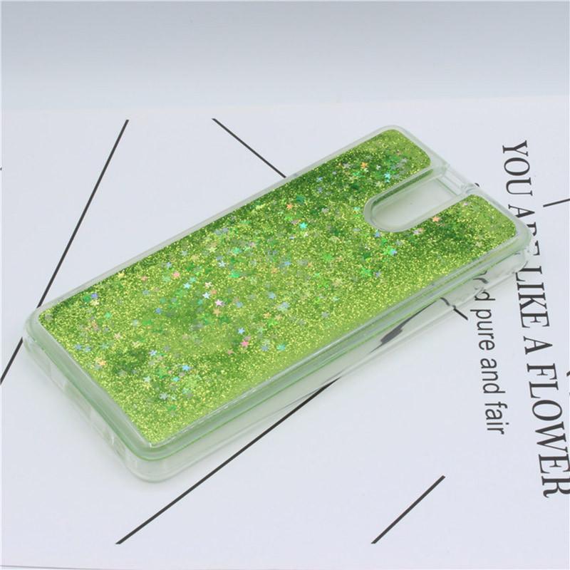 Чехол Glitter для Meizu M6 Note Бампер Жидкий блеск Green