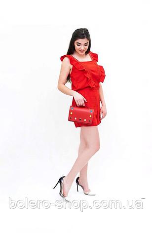 Комбинезон шортами красный Италия, фото 2
