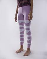 Стильные женские спортивные леггинсы с переплетом. 2 цвета. Размеры : 40,42,44,46.