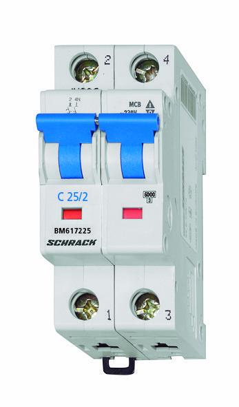 Автоматический выключатель BM6 2p C 2А (6 kA)