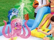 Надувной детский игровой центр-бассейн BestWay53052 Аквариум с горкой и игрушками, фото 3