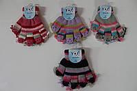 Акриловые перчатки с куклами для девочек - 14 см