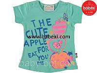 Babexi (бабекси) детская одежда из турции детская одежда оптом.Футболка  для девочки Яблоко  р. 1,2,3,4 года..