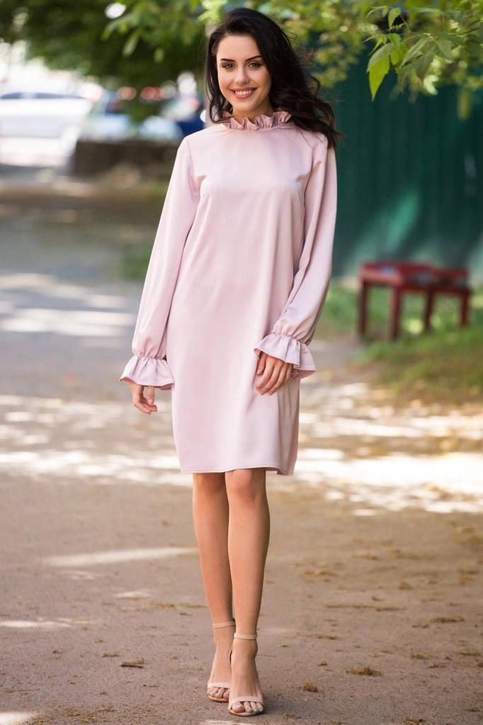 Розовое платье AVELINA
