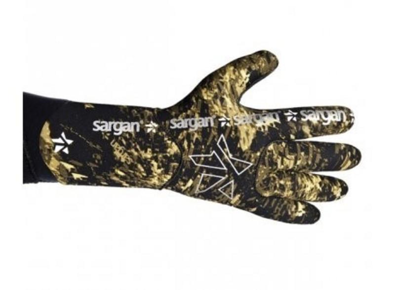 Ерчатки для подводной охоты с обтюрацией Sargan Калан Камо 4,5мм