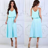 Платье женское льняное на бретелях  костр7879, фото 1
