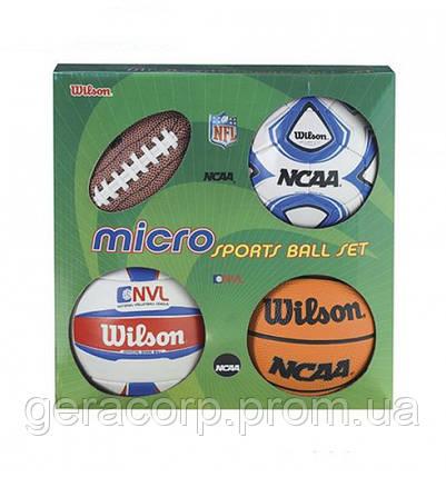 Сувенирный набор Wilson Micro sports 4ball kit, фото 2