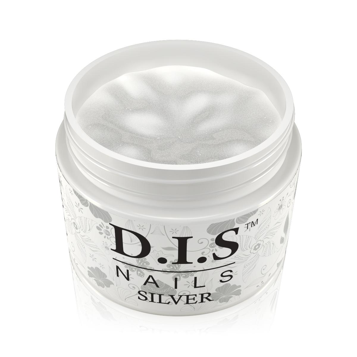 Однофазный гель D.I.S Nails Silver (серебро)  30 гр.