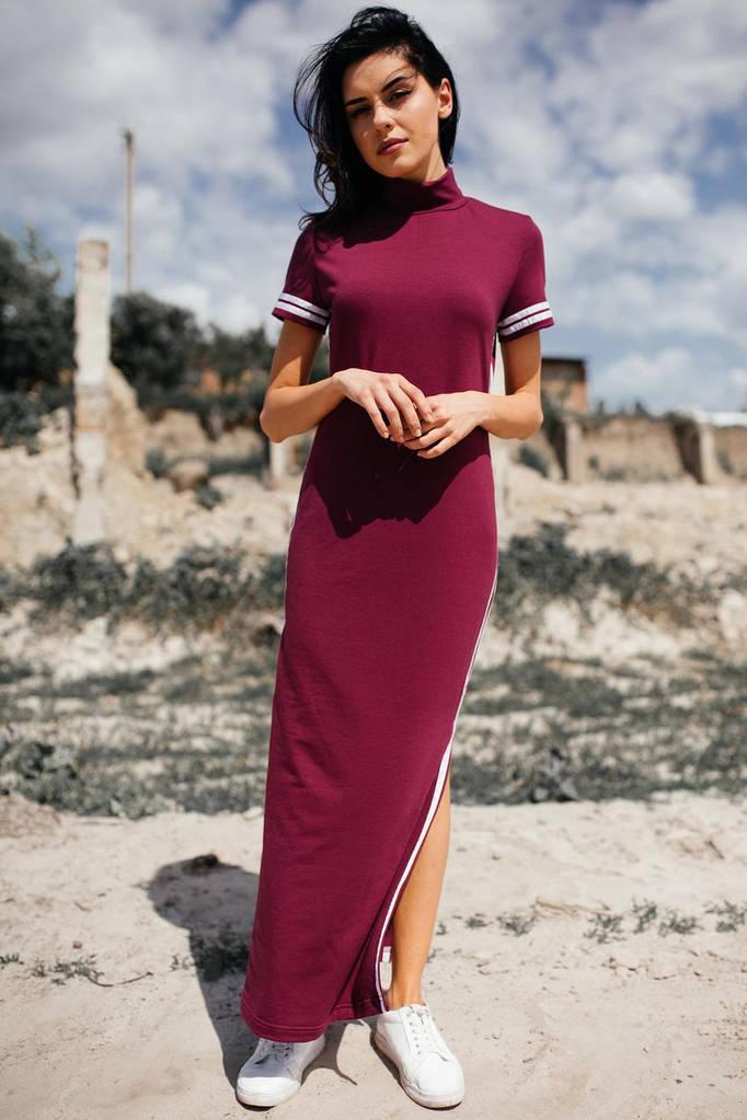 Вишнёвое платье ALEXIS