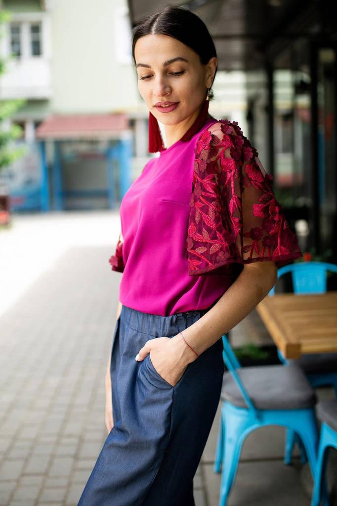 Бордовая блуза ABELLA