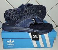 """Шлепанцы (вьетнамки) мужские Adidas """"Fit Foam soft comfort footbed"""". Jeans. Реплика, фото 1"""