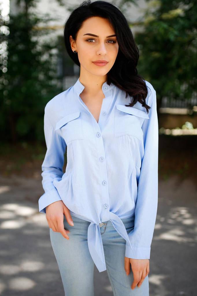 Голубая рубашка Taylor