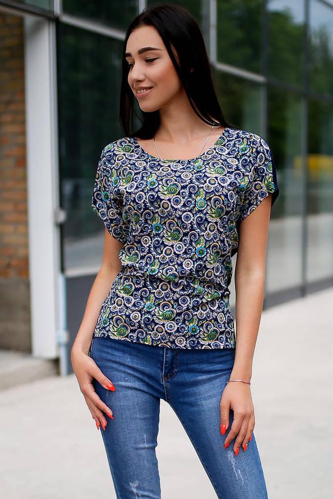 Сине-зелёная блуза SOFI