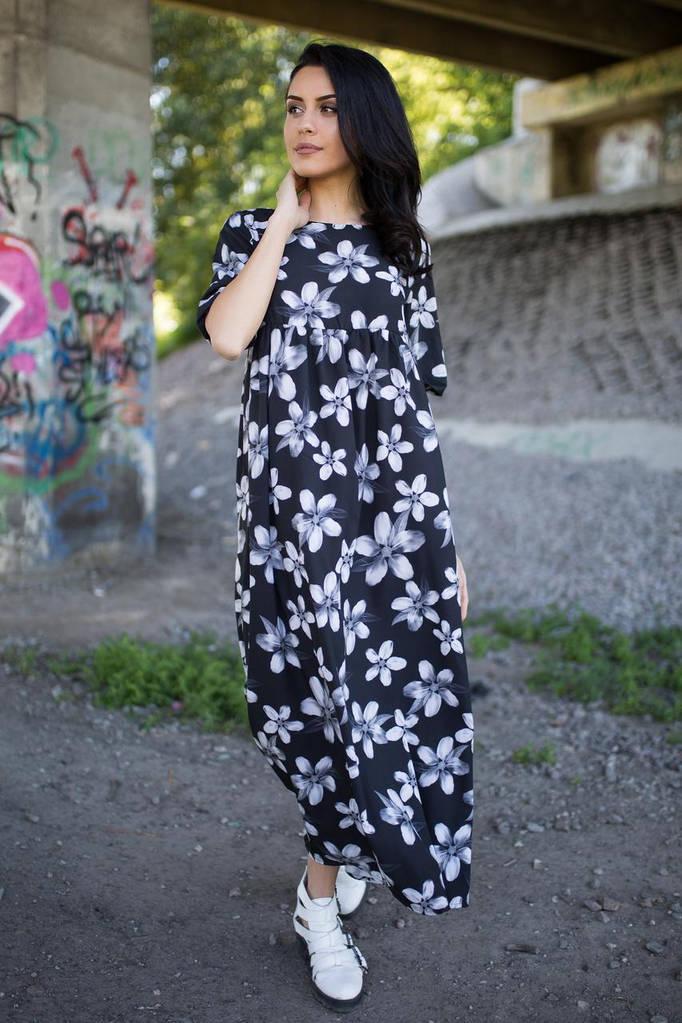 Чёрно-белое платье AJSI