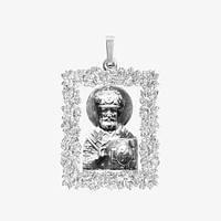 Ладанка серебряная Николай Чудотворец ЛП-129