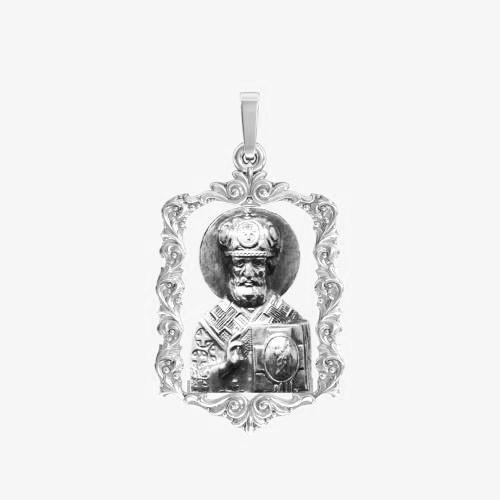 Ладанка серебряная Николай Чудотворец ЛП-128