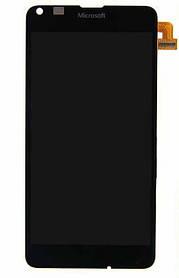 Дисплей (экран) Microsoft Lumia 640 with touch screen (с тачскрином в сборе), black (черный)