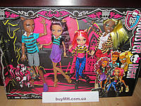 Сет семейка вульфов Monster High Wolf Family A Pack of Trouble Set of 4 Dolls