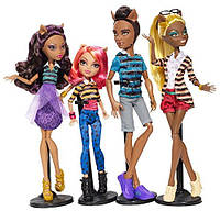 Сет семейка вульфов Monster High Wolf Family A Pack of Trouble Set of 4 Dolls