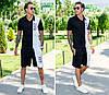 Летний мужской костюм Emporio Armani мод 687 размеры: с м л хл ххл ткань трикотаж Отличное качество