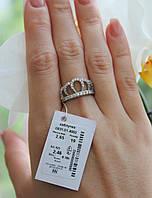 Серебряное кольцо Корона 925 пробы с камнями