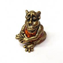 Сувенирная статуэтка Обезьяна из бронзы и янтаря
