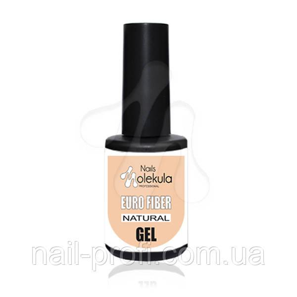 Euro fiber gel Molekula (файбер гель натуральний) 12 мл