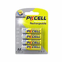 Аккумуляторы AA - PkCell 2600 mAh (4шт в блистере)