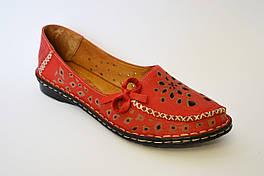 Балетки женские красные Euromoda 1459