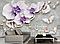 """3D фотообои """"Лиловые орхидеи"""", фото 3"""