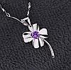 Серебряный кулон  Цветок стерлинговое серебро 925 пробы (код 1031)