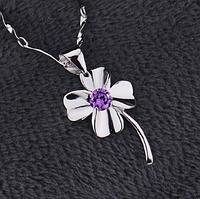 Серебряный кулон  Цветок стерлинговое серебро 925 пробы (код 1031), фото 1