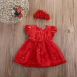 Нарядное платье с повязкой  размер 92., фото 7
