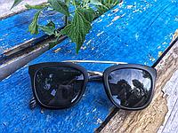 Солнцезащитные очки Prada чёрные матовые
