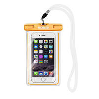 Флуоресцентный водонепроницаемый чехол для мобильного телефона Romix RH11OR оранжевый