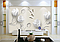 """3D фотообои """"Серебряные цветы"""", фото 3"""