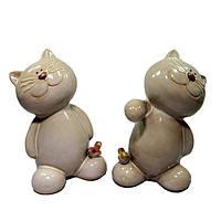 Фигурка керамическая Кот набор 2 шт