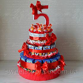 """Торт в детский сад из конфет и сока """"Вкусный праздник"""""""