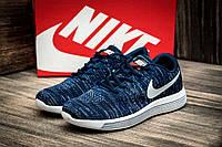 "Кроссовки мужские Nike Focus Flyknit, темно-синий (2529-1),  [  41 42 43 44 45  ] ""Реплика"", фото 1"