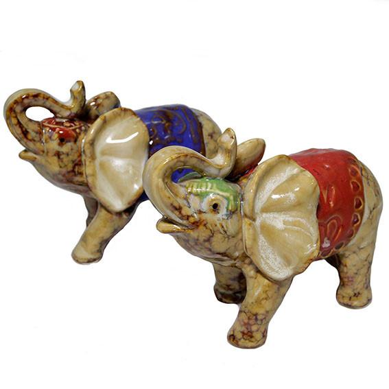 Статуэтка керамическая Слон набор 2 шт
