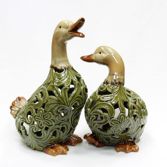 Фигурка декоративная керамика Утка набор 2 шт