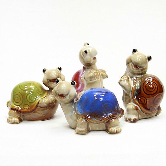 Статуэтка керамическая Черепаха набор 4 шт