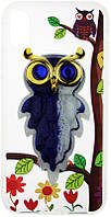 Чехол-накладка TOTO TPU Case Decorative Stones IPhone X Owls Purple, фото 1
