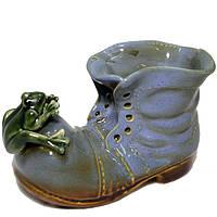 Фигурка для сада керамика Ботинок