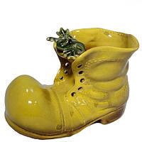Фигурка для дачи керамика Ботинок