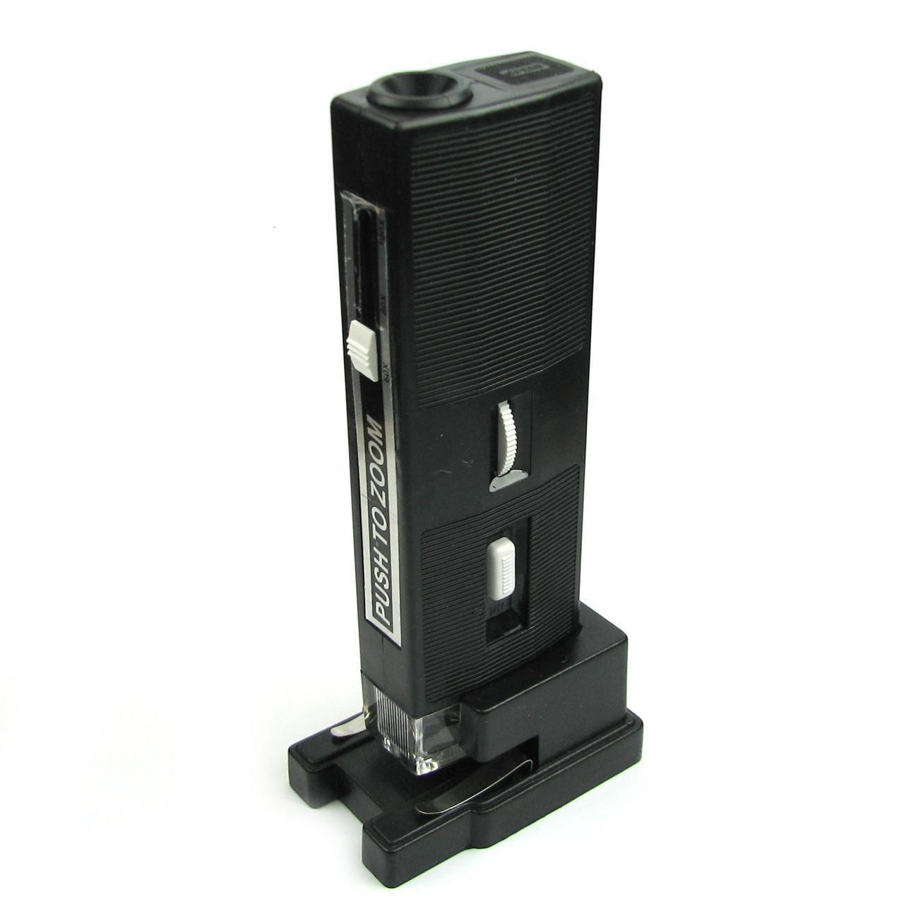 Микроскоп MG10085 c подсветкой и предметным столом увеличение 60-100x