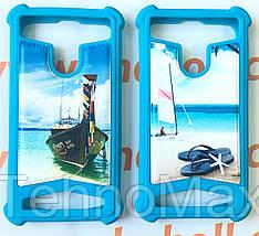 Силиконовый чехол с кожаной накладкой Glamour для Acer Liquid Z5, фото 3