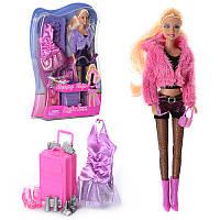 Лялька з вбранням DEFA 8262, плаття, взуття, аксесуари, 2 види, в блістері, 22-33-5,5 см