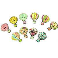 """Пуговицы """"Воздушный шар""""   23мм* 30мм 10шт в наборе"""